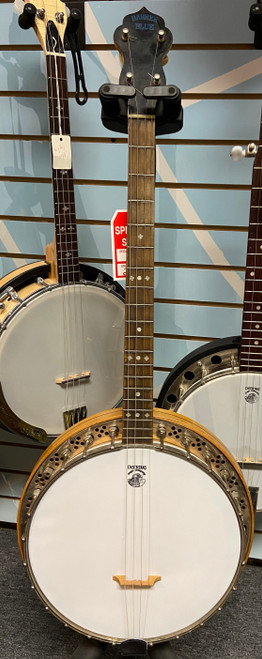 Used Lange Banner Blue Banjo with Resonator