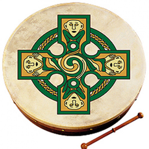 "Waltons 18"" Gallen Cross Bodhran"
