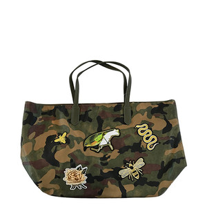 Military Patch Tote Green