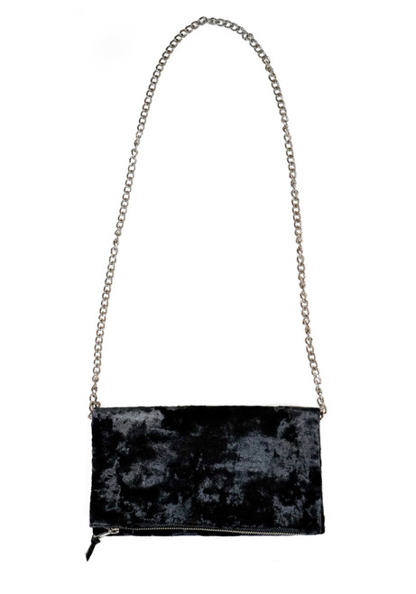 Black Velvet Crossbody  Mini