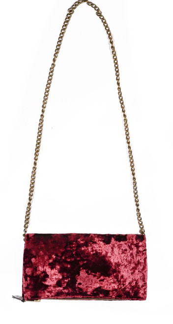 Burgundy Velvet Crossbody Mini