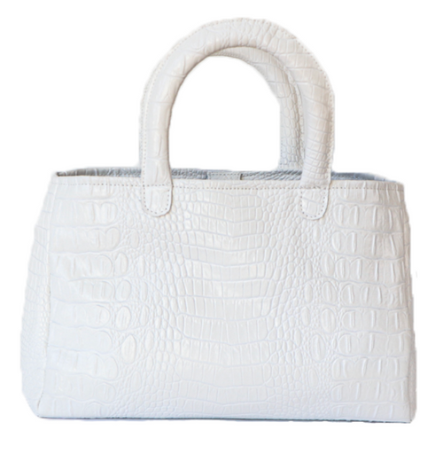 Stacy Bag - White Croc