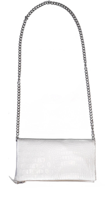 White Croc Crossbody Mini