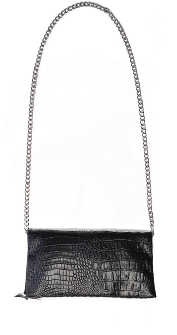 Black Croc Crossbody Mini