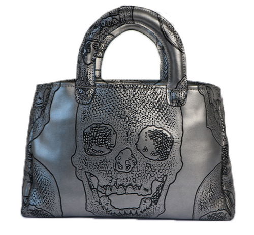 Stacy Bag - Pewter Skull