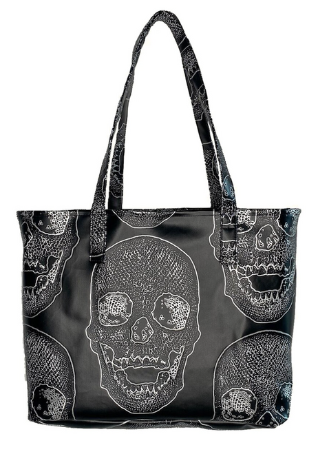 Black Skull Day Tote