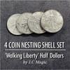For in One Coin Magic Trick Walking Liberty Half Dollar Gospel