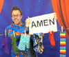 NEW - The Lord's Prayer Line - A Fun Object Lesson on the Lord's Prayer - Socks, Pants, Oven Gloves and an AMEN!