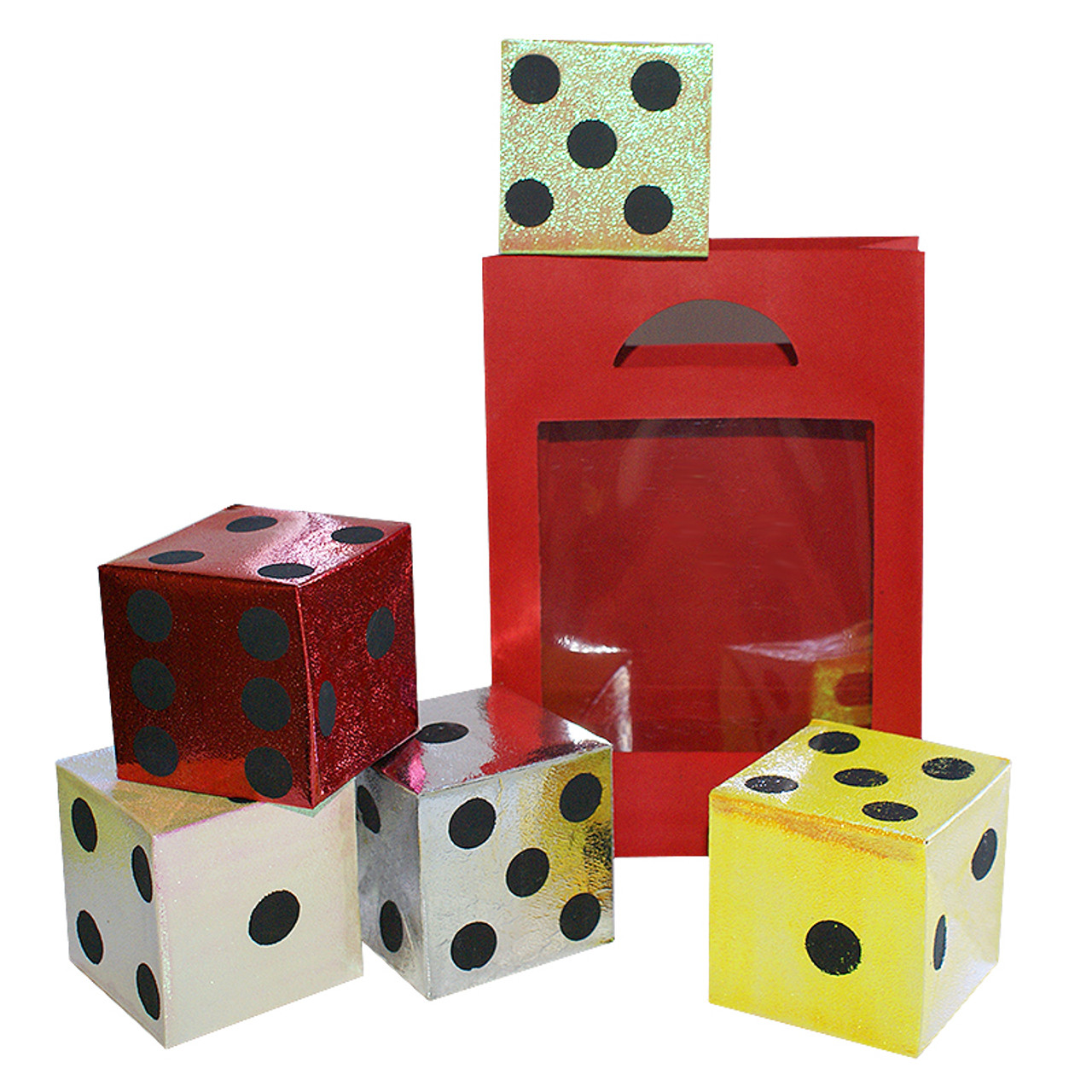 DiFatta Magic Trick Dice from Empty Bag Appearing Cubes