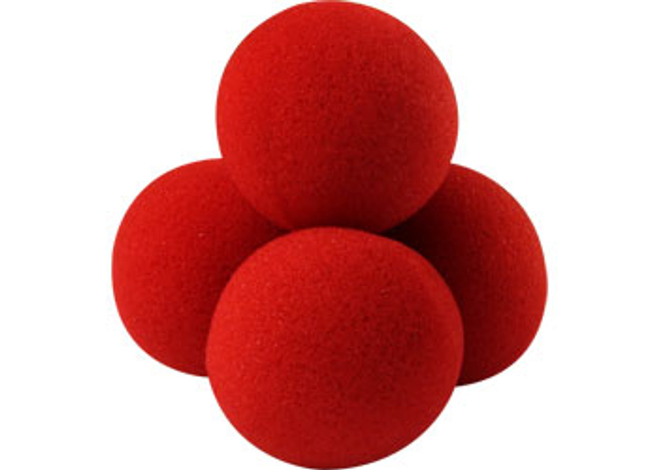 Classic -  Red Sponge Balls - Supersoft Goshman - Free Booklet - They appear, vanish, multiply and more!