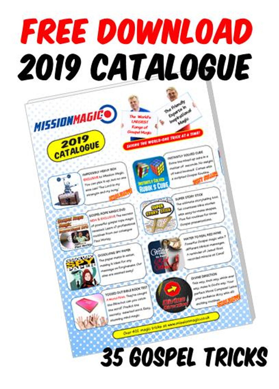 2019 Catalogue Advert Mission Magic Tricks