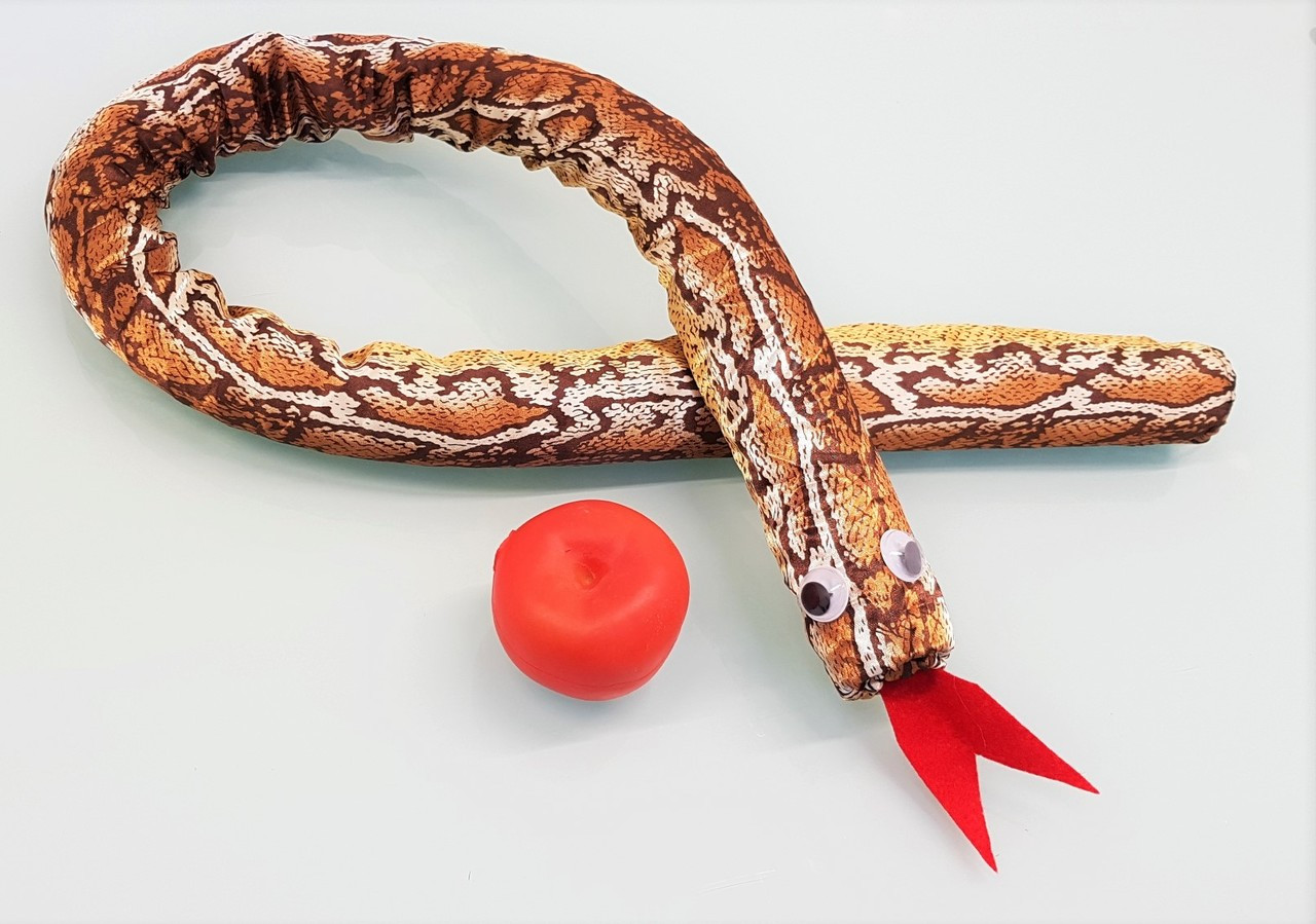 Snake and Apples Magic Trick Gospel Temptation Spring Wand Rubber