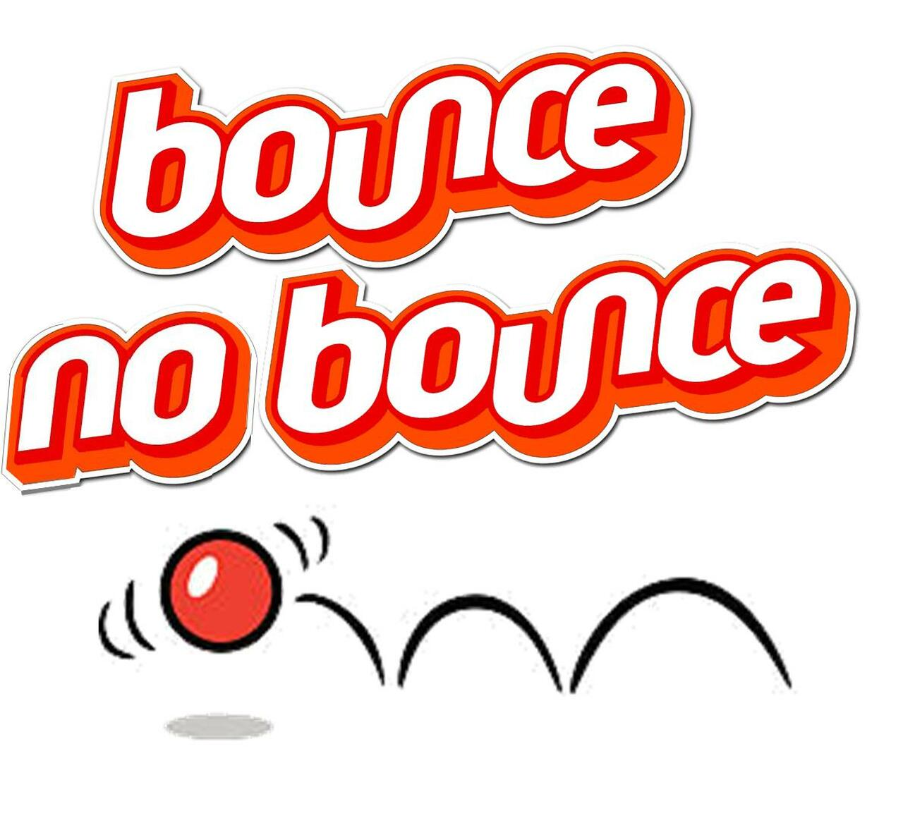 NEW - Bounce No Bounce Ball - It'll bounce for you but for no-one else! Feeling flat. Joy. Sadness
