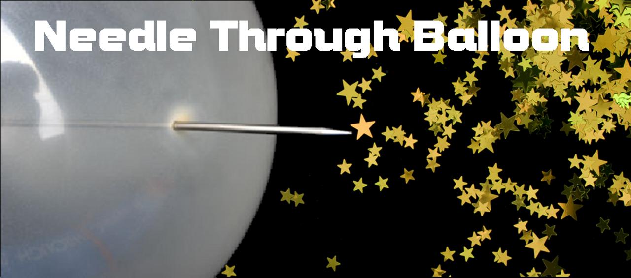 Needle Thru Balloon Magic Trick