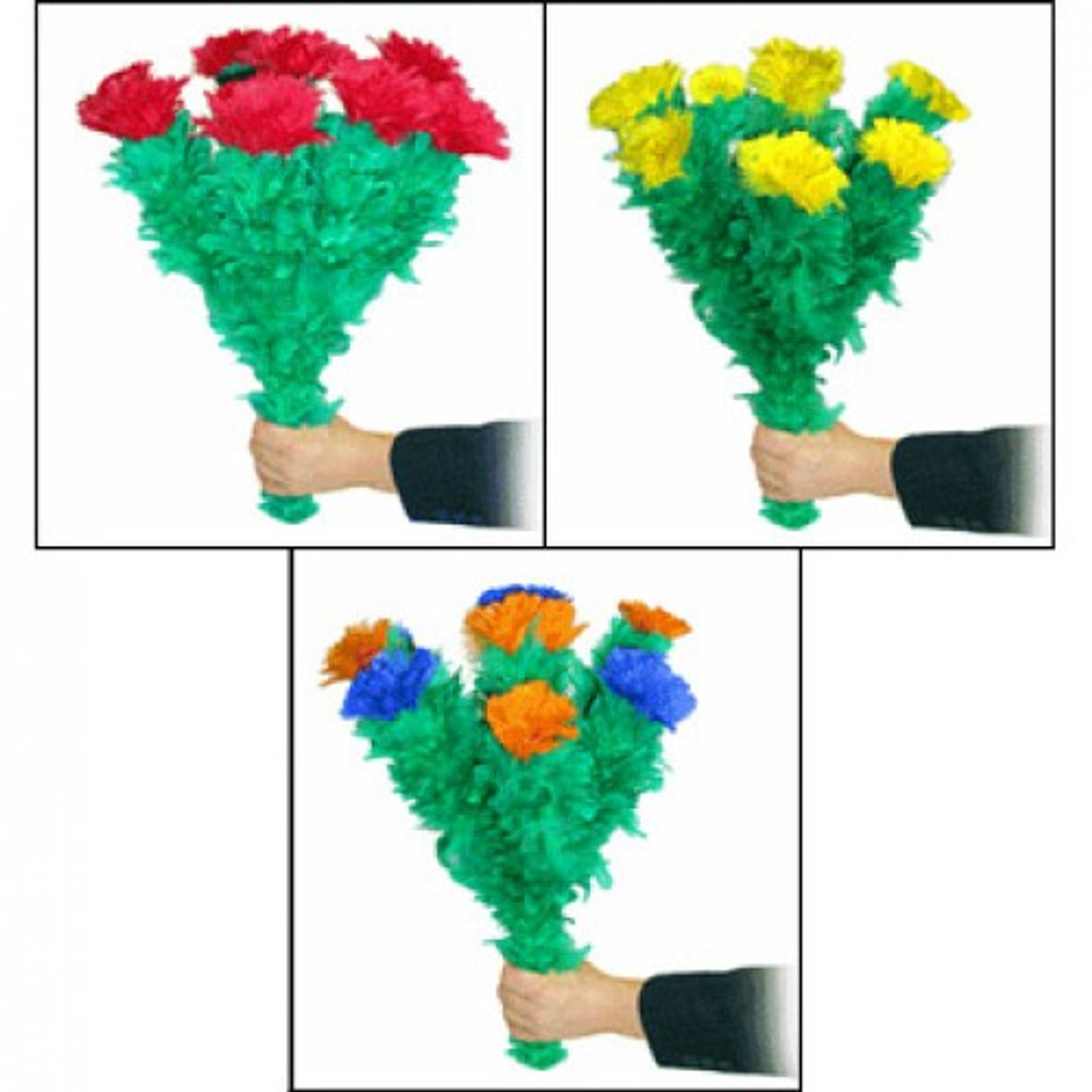 Triple Blooming Bouquets Flowers Magic Trick