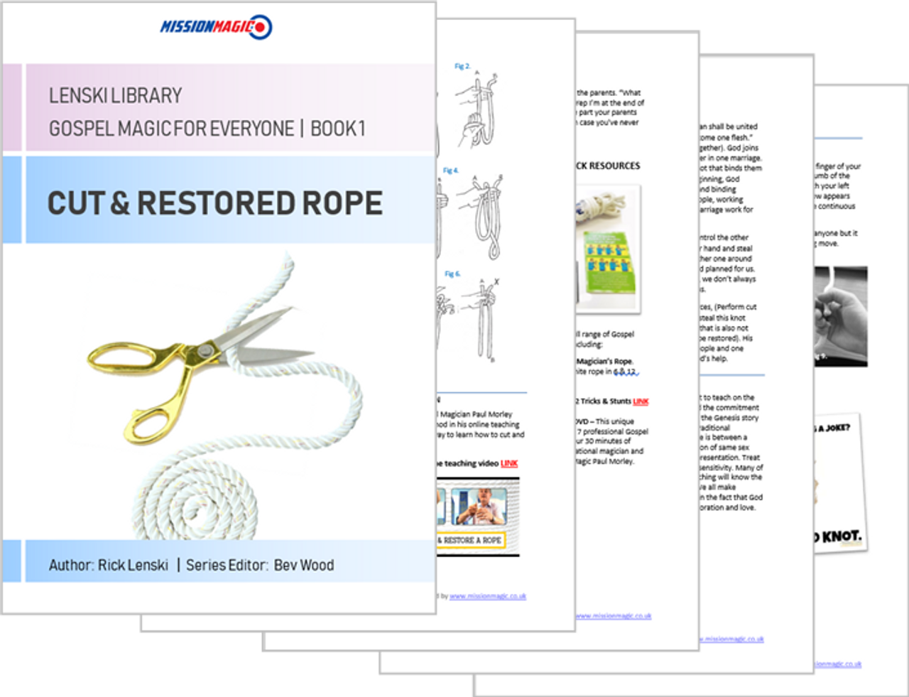 Free Magic Trick Book eBook Gospel Magic Cut & Restored Rope