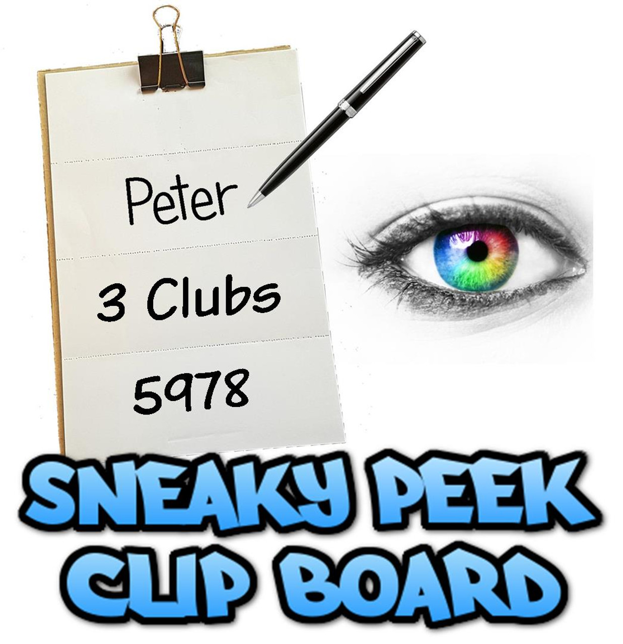 Sneaky Peak Clip Board Mentalist mentalism Mind Reading Magic Trick Gospel