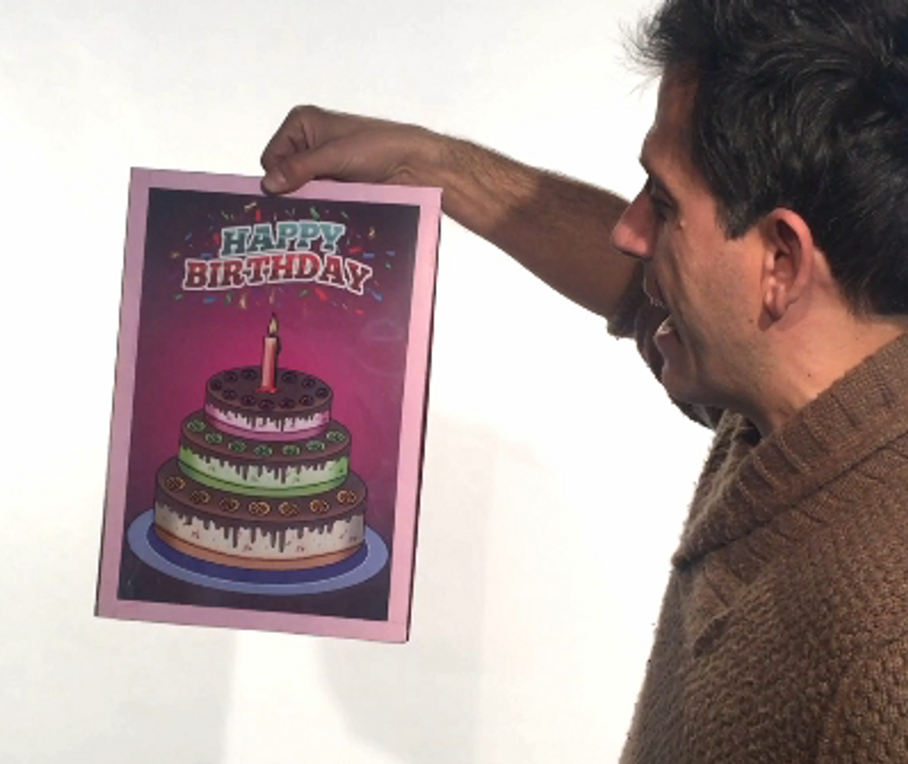 Sensational New 3D Birthday Cake Surprise Magically Colour In The Picture Funny Birthday Cards Online Amentibdeldamsfinfo