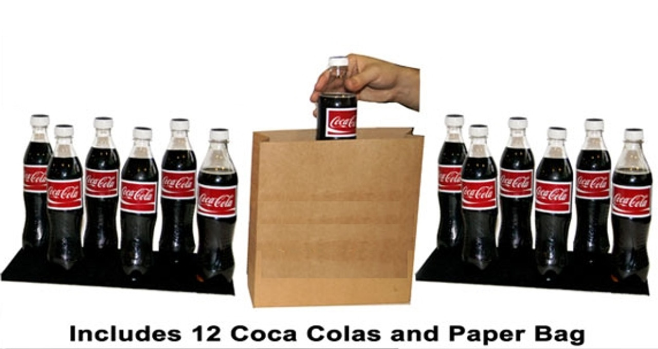 Tora Appearing Coke Bottles Magic Trick from Empty Bag