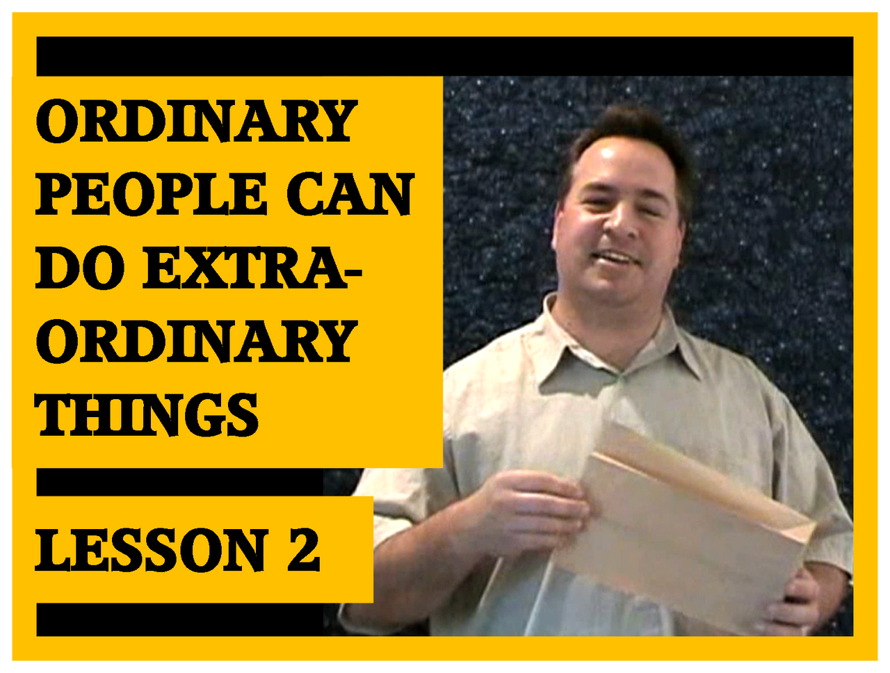 Gospel Magic Lesson Trick 1 Ordinary People Doing Extraordinary things
