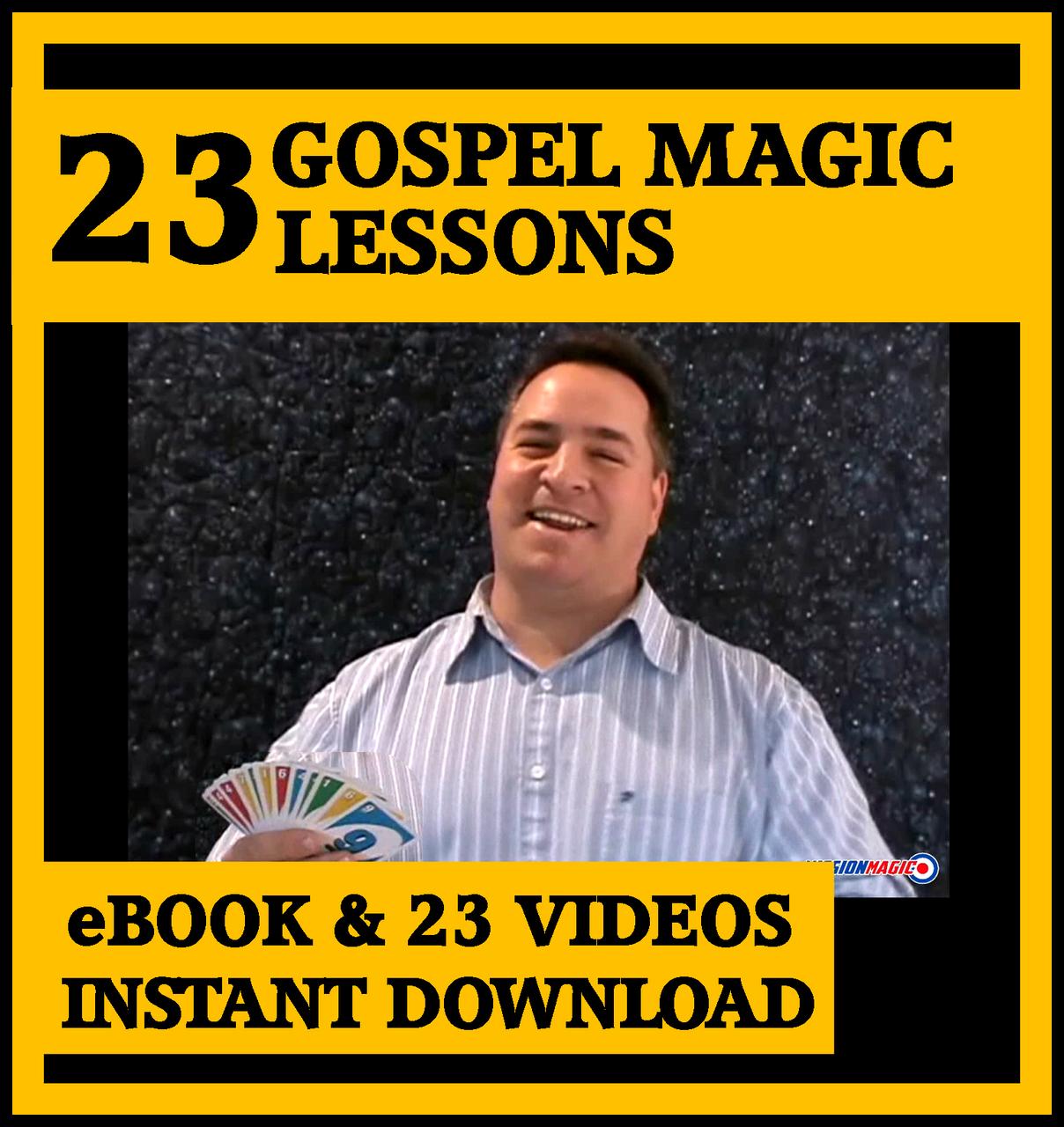 Magic for Jesus Gospel Magic Lesson Trick eBook DVD Video Kids Church Schools Jesus