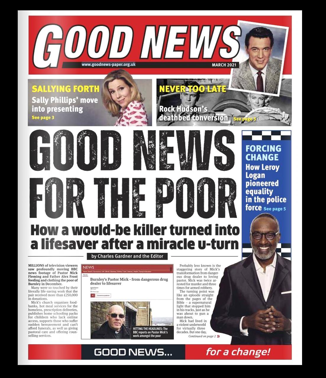 Good News Torn & Restored newspaper magic trick