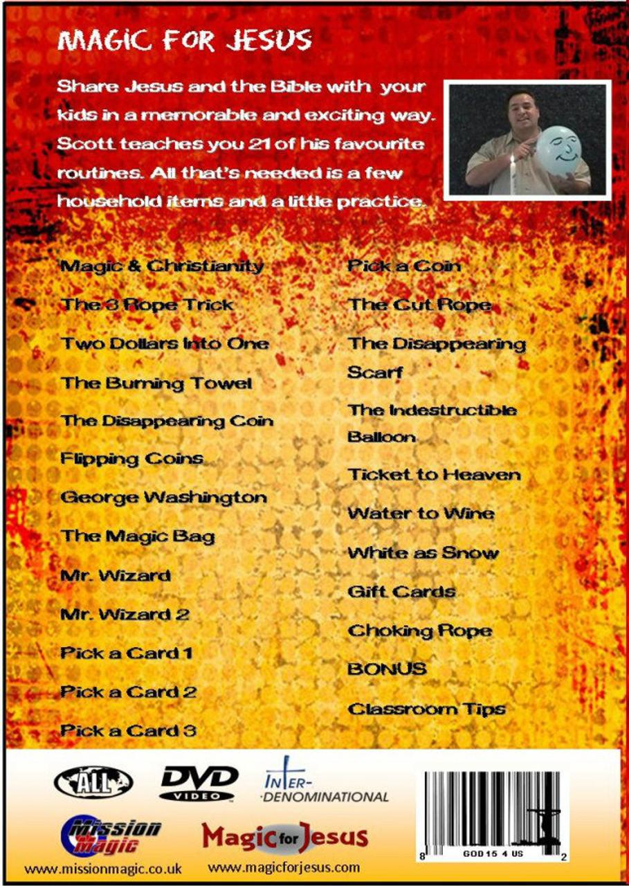 Best Seller - Magic For Jesus DVD- 21 Easy to Do Gospel Magic Lessons - Never be stuck for ideas for Gospel Magic again!