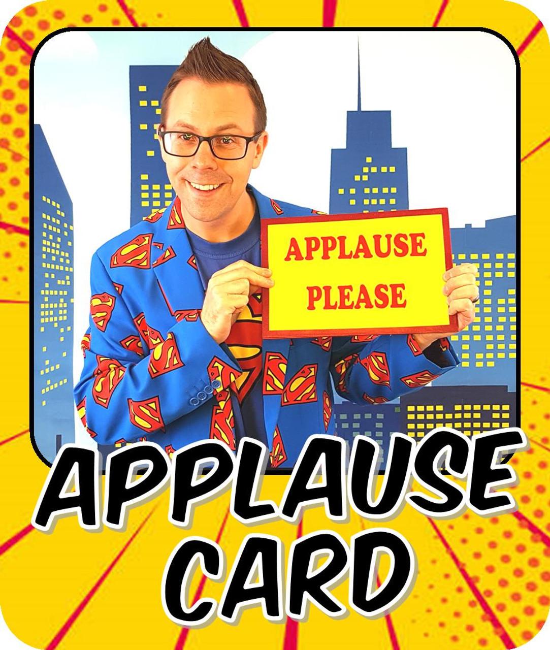 Applause Card Gag Joke Funny Magic Trick