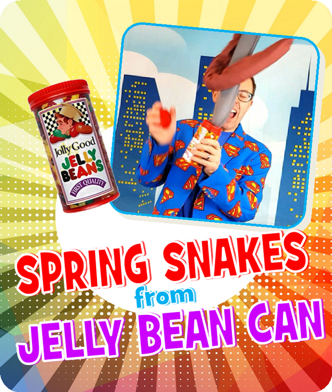 Spring Snakes from Jelly Bean Can Joke Gag Magic Trick Gospel