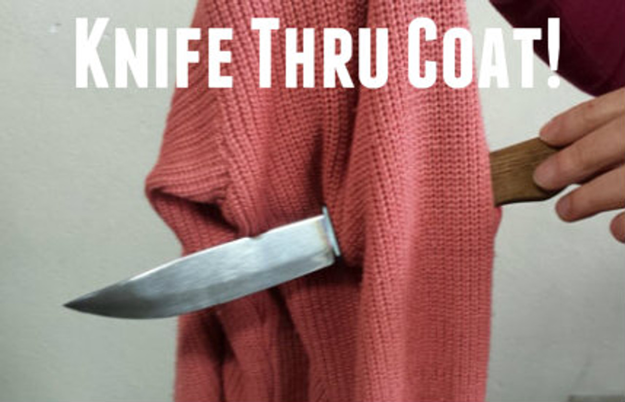 SPECIAL - Knife thru Coat Complete - PRO Routine - Push a knife into a coat and leave it unharmed!