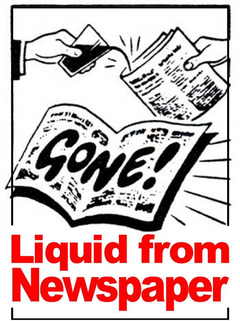 Liquid from Newspaper Magic trick