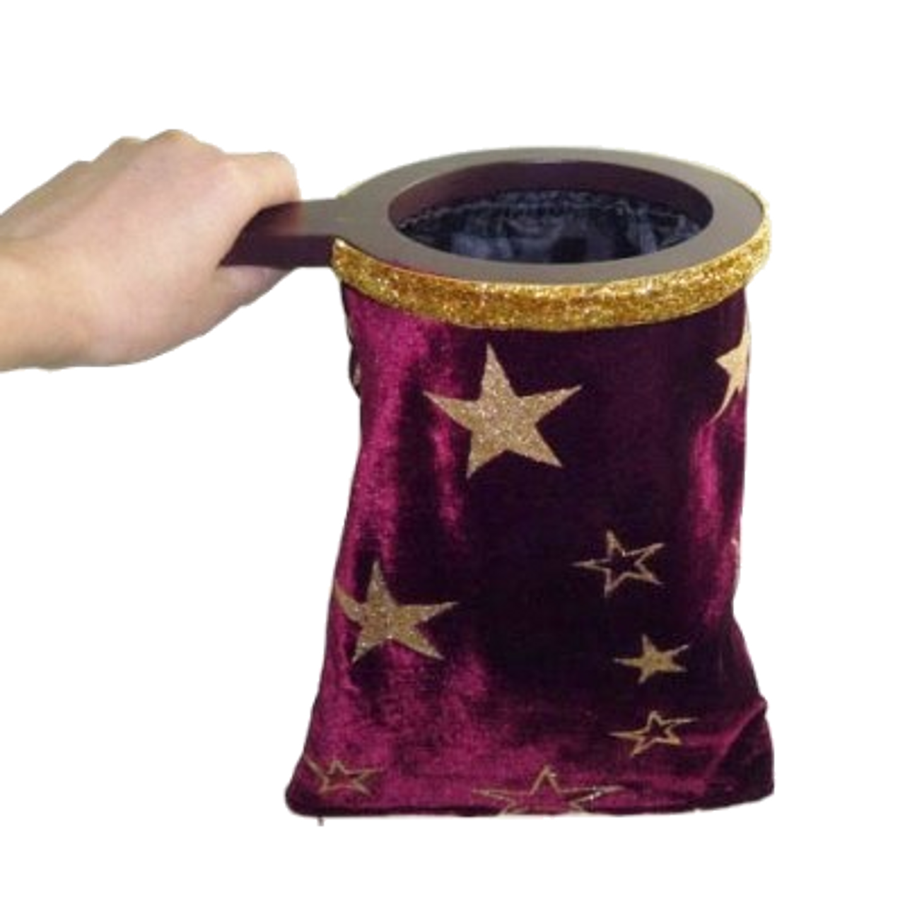 Red burgundy star zipper change bag magic trick Gospel