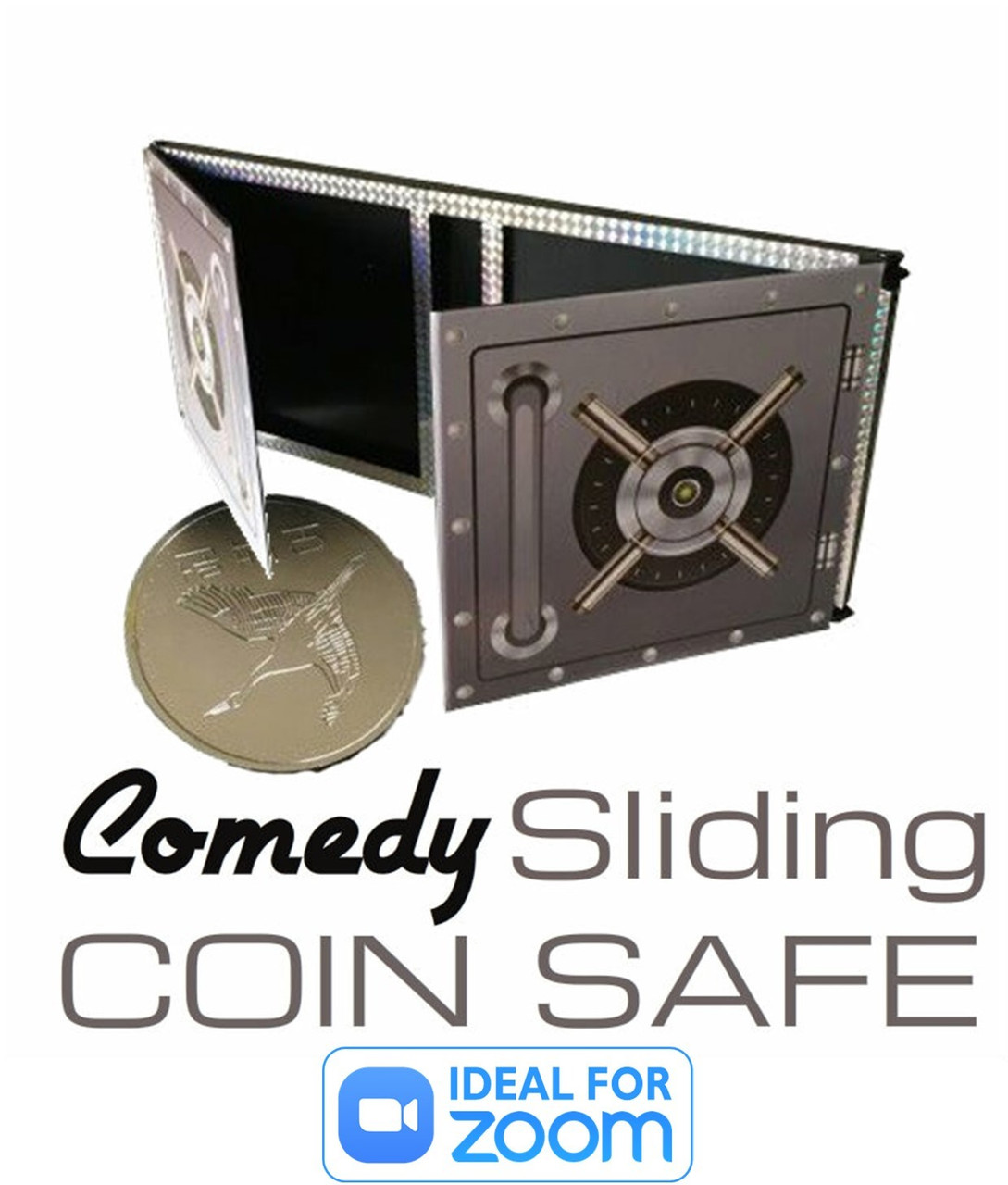 Comedy Sliding Coin Magic Trick Die Box Pizza