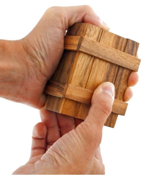 Pandoara's Puzzle Box Wooden Magic Trick
