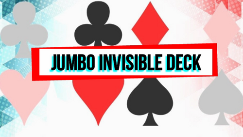 Jumbo Invisible Magic Trick Gospel Card