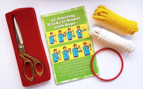 Magic Rope Set Scissors Gospel Magic Booklet Ring