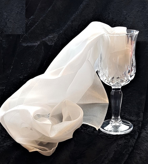 Crystal Chalice Mirror Glass Tumbler Magic Trick Water Milk to Silk Gospel