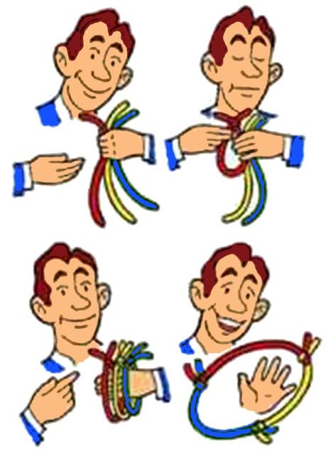 Multicoloured Rope Link Magic Trick Gospel