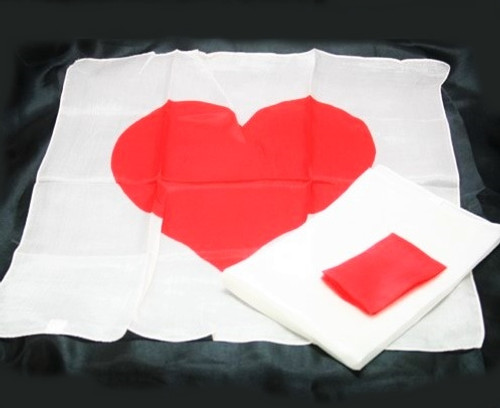 NEW - Heart Silk Set - Silk Squares Blend into a Heart - Dozens of Uses.
