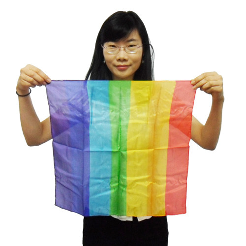 Rainbow Silk Hanky Magic Trick Kids