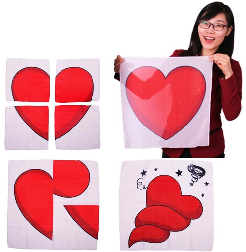 Comic Heart Scarf Set Gospel Magic Kids