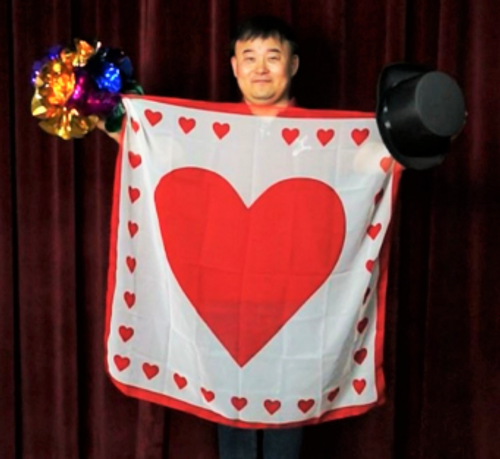 36 inch Heart Love Silk Hanky Magic Trick Gospel Children