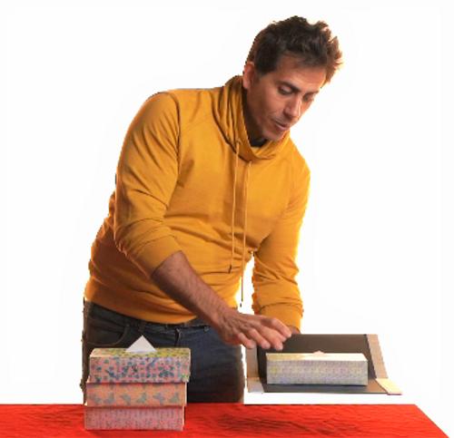 Difatta Magic Tissue Boxes Wallet Appearing Magic Trick Gospel Kids