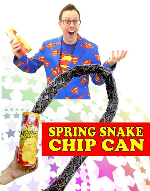 Spring Snakes from Potato Chips Can Joke Gag Magic Trick Gospel