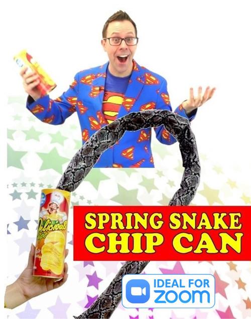 Spring Snakes from Potato Chips Can Joke Gag Magic Trick Gospel