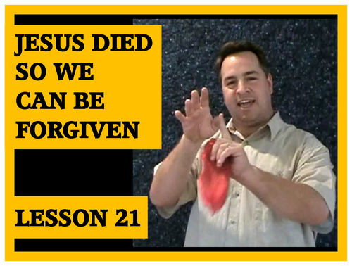 Gospel Magic Lesson Trick 21 Jesus died so we can be forgiven