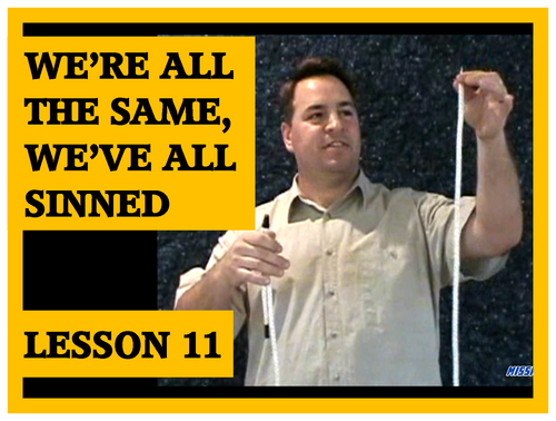 Gospel Magic Lesson Trick 11 We're all the same we've all sinned