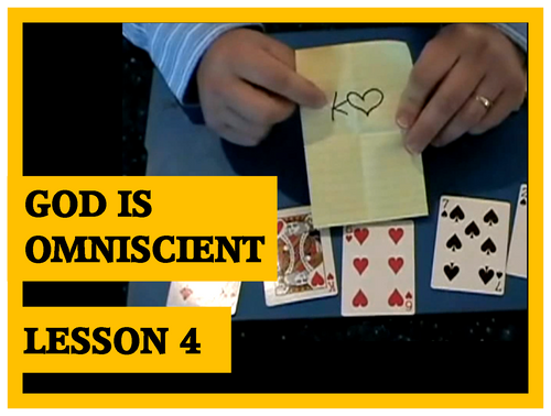 Gospel Magic Lesson Trick 4 - God is Omniscient