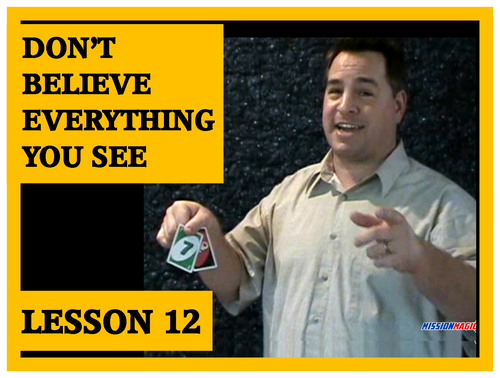 Gospel Magic Lesson Trick 12 - Don't Believe Everthing You See