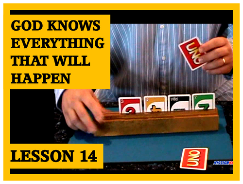 Gospel Magic Lesson Trick 14 God knows everything that's will happen